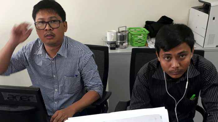 News video: Myanmar Journalists Press Government On Imprisoned Reuters Reporters