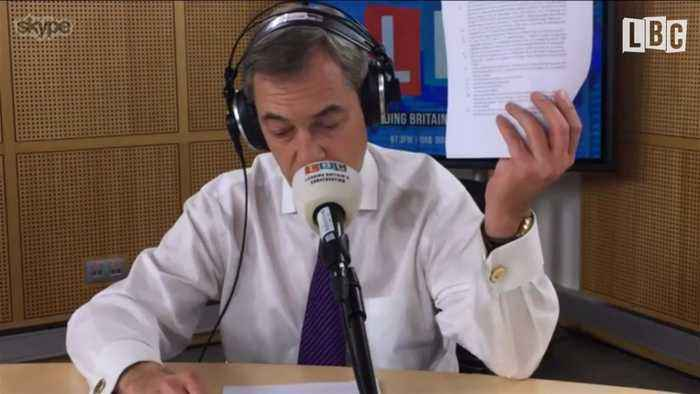 "News video: Nigel Farage Laments Caller Who Says He ""Spun"" Barnier Interview"