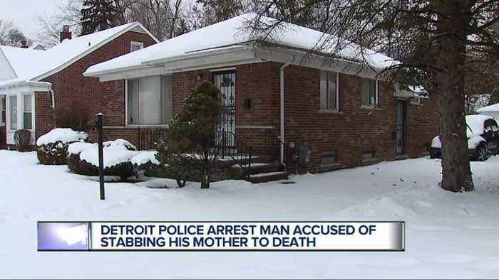 News video: Detroit police arrest man accused of stabbing his mother to death
