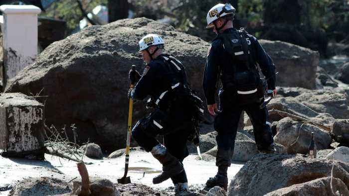 News video: Search Area Expanded In Rescue Efforts Following Deadly California Mudslide