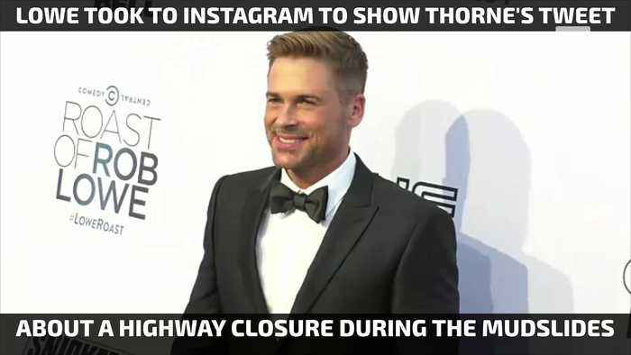 News video: Rob Lowe Calls Bella Thorne Out for Mudslide Tweet