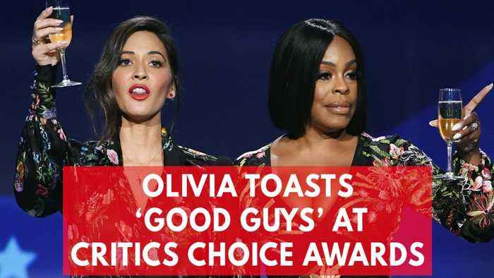 News video: Olivia Munn and Niecy Nash sarcastically toast 'the good guys' at Critics' Choice Awards