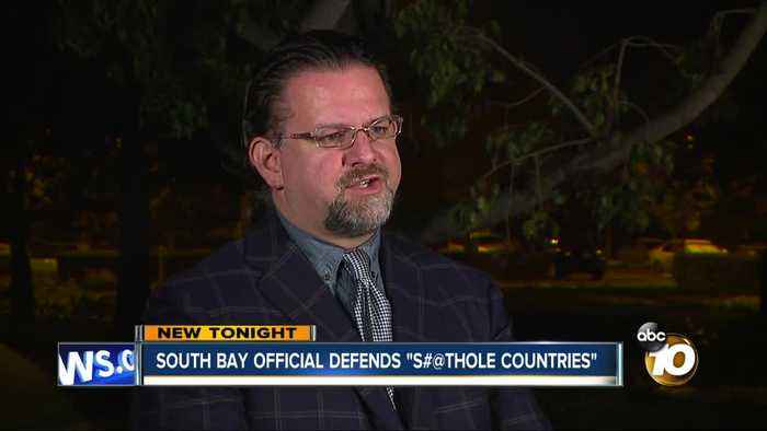 "News video: South Bay official defends President's ""S#@thole Countries"""