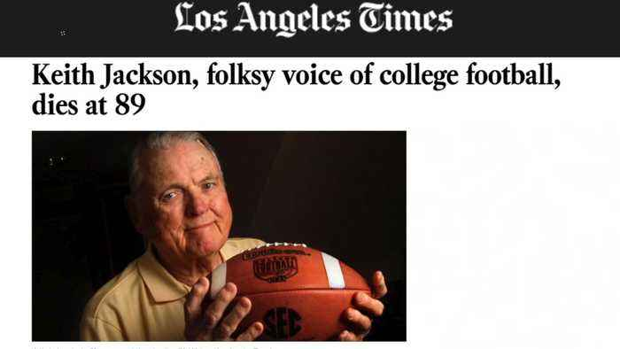 News video: Legendary College Football Announcer Keith Jackson Dies at 89