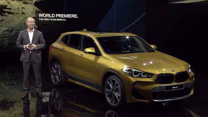 world premiere bmw x2 at 2018 detroit motor show one news page video. Black Bedroom Furniture Sets. Home Design Ideas