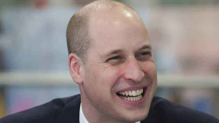 Prince William Sports Slick New Haircut