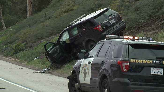 News video: San Diego Officer, Prisoner Hospitalized After Squad Car Crashes