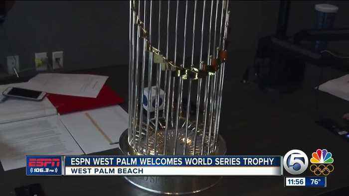 News video: World Series Trophy Visits ESPN West Palm