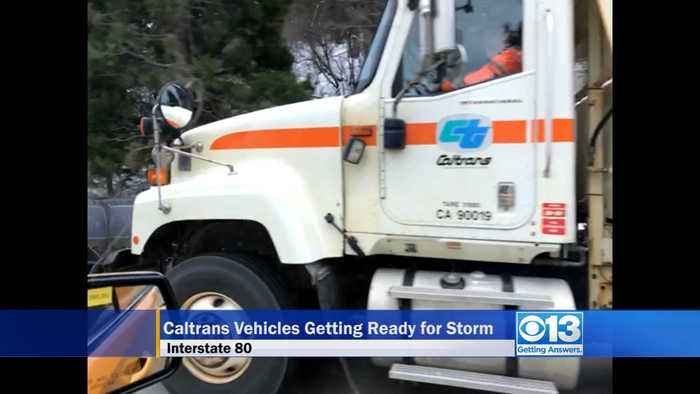 Caltrans Trucks Getting into Position for Coming Storm