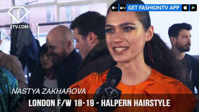 London Fashion Week Fall/Winter 18-19 -  Halpern Hairstyle | FashionTV | FTV