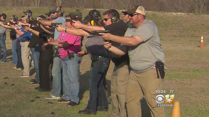 News video: North Texas Teachers Attend Gun And Active Shooter Training