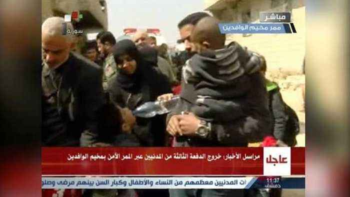 News video: Sick and injured begin to leave besieged Syrian enclave in Ghouta