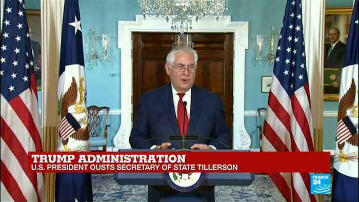 US - President Donald Trump ousts Secretary of State Rex Tillerson, replaces him with CIA director Mike Pompeo