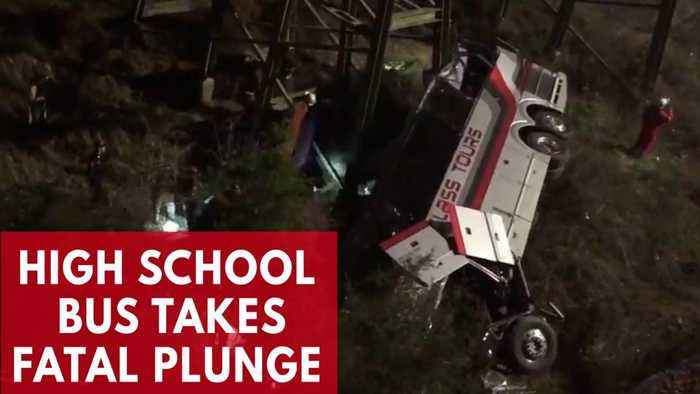 News video: Bus Carrying Texas Students From Disney World Trip Crashes Into Alabama Ravine