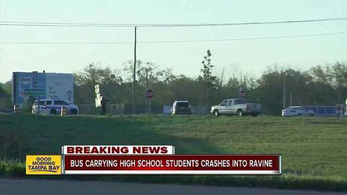 Bus carrying Texas students home from Disney World plunges into Alabama ravine