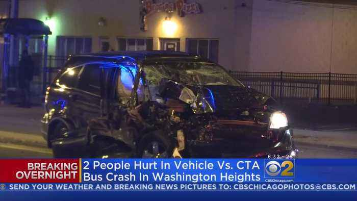 Two Injured When Driver Crashes Into CTA Bus In Washington Heights