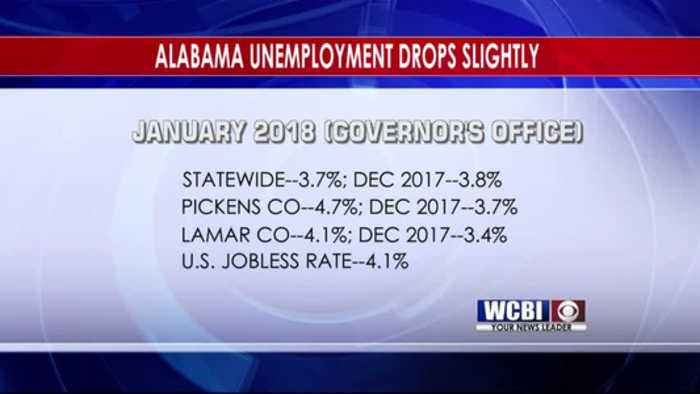 Alabama Unemployment Rate Down to Record Low - 3/12/18