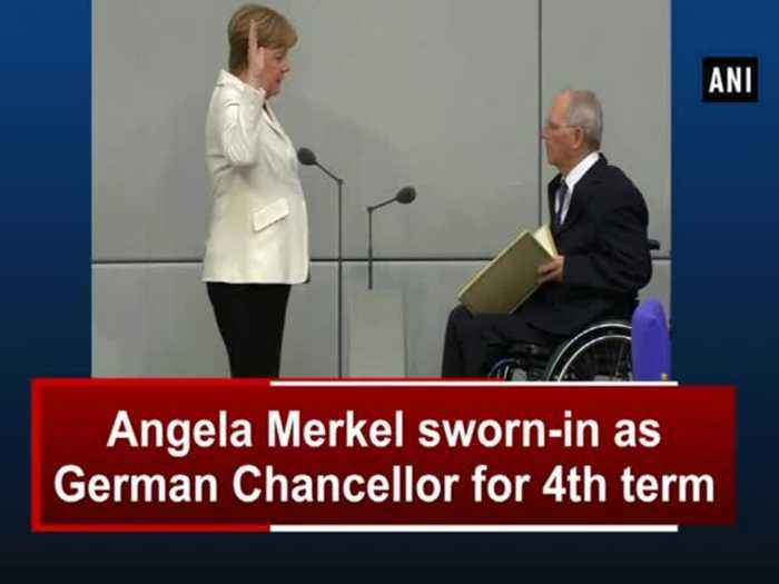 Angela Merkel sworn-in as German Chancellor for 4th term
