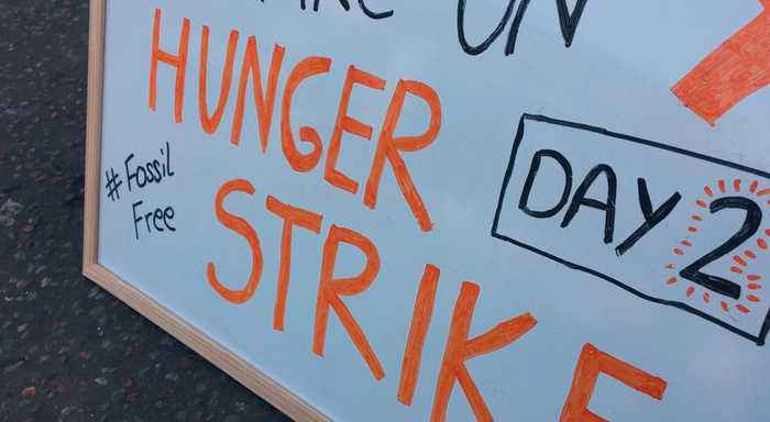Hunger Strike against fossil fuel investment
