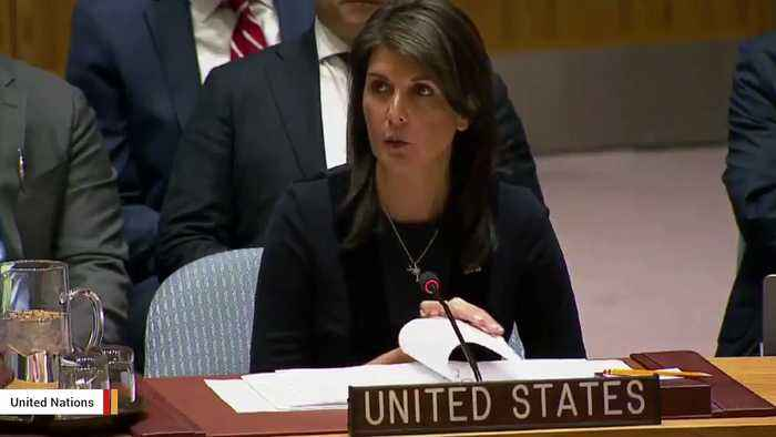 News video: Nikki Haley: US Believes 'Russia Is Responsible' For Nerve Agent Attack