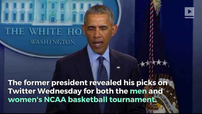 News video: Barack Obama Gives His March Madness Picks
