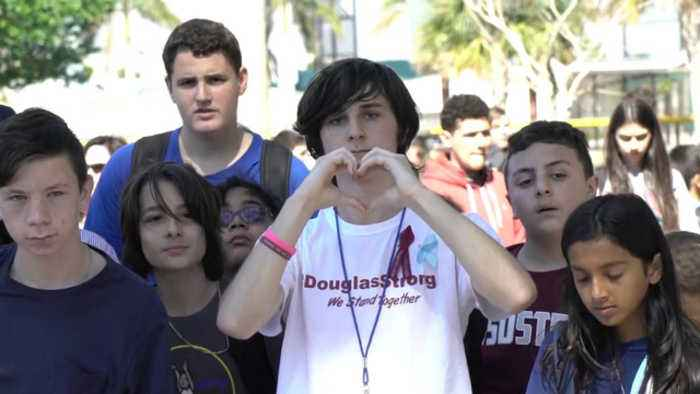 News video: Students inspired by Parkland walk out of class, call for gun reform