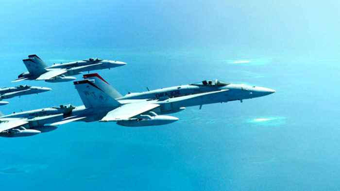 News video: Navy fighter jet crashes near Key West