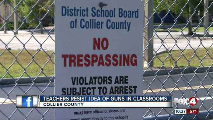 News video: Collier Sheriff weighs weather teachers should carry