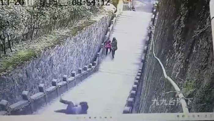 Tourist On Phone Falls To Death On Buddhist Mountain