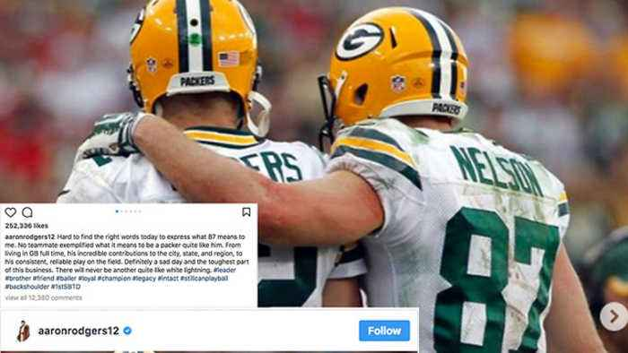 News video: Aaron Rodgers DEVASTATED Over Release of Jordy Nelson: Pours His Heart Out On Instagram