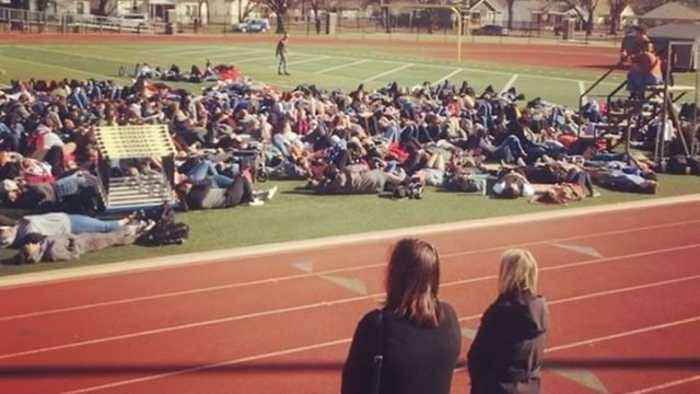 News video: Norman High School Students Lie Down in Solidarity With Parkland