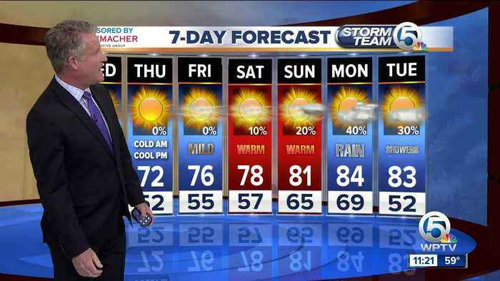 News video: Latest Weather Forecast 11 p.m. Tuesday