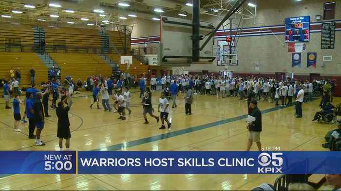 Golden State Warriors Team Up With Special Olympics To Host Basketball Clinic