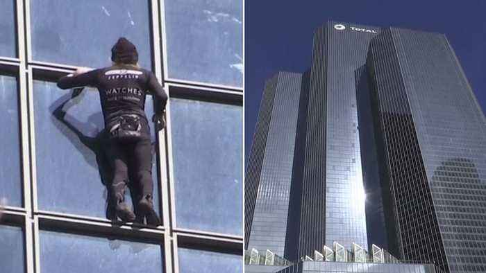 News video: 55-Year-Old 'French Spider-Man' Climbs 587-Foot Building in 30 Minutes