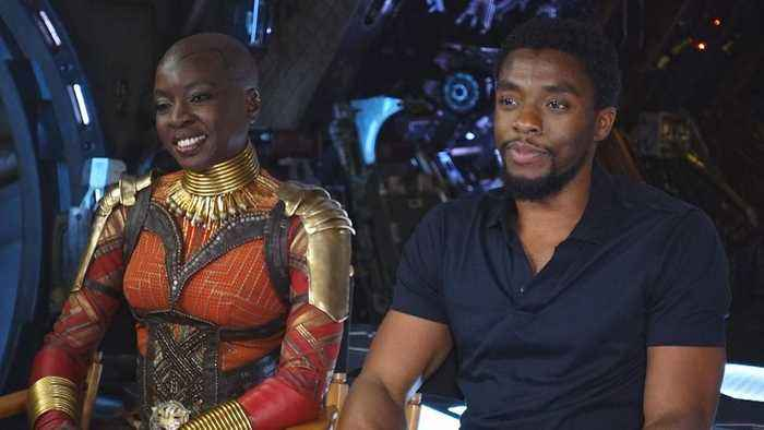 News video: 'Avengers: Infinity War': Chadwick Boseman and Danai Gurira (FULL INTERVIEW)