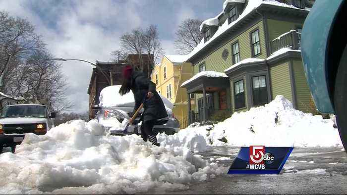 Snow, slush making a mess for Boston residents