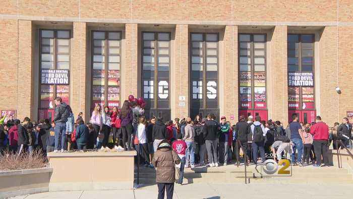 News video: Threatened With Punishment, Hinsdale Students Join Walkout Anyway