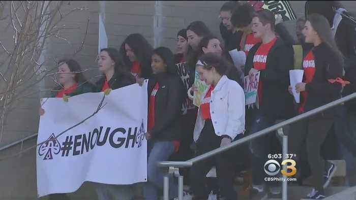 Lower Merion High School Students March In Wake Of Florida School Shooting
