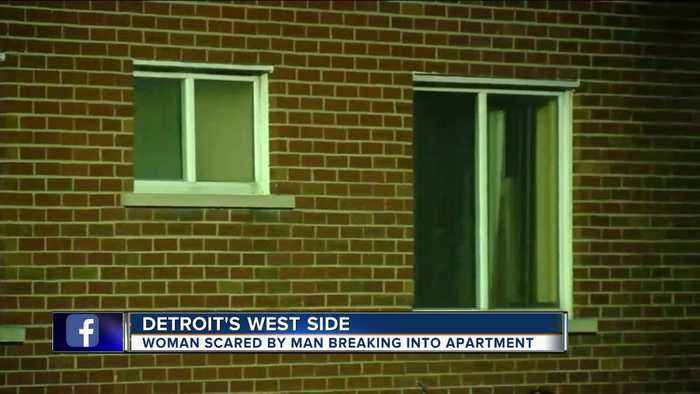 Woman scared by man breaking into apartment