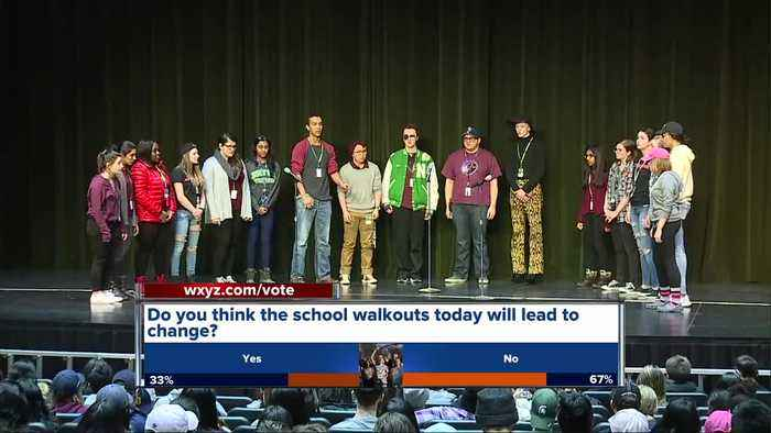 News video: Full coverage: School walkouts happening in metro Detroit, across US