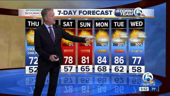 News video: Latest Weather Forecast 5 p.m. Wednesday