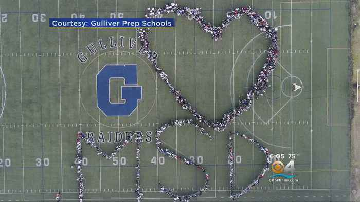 News video: Students At Gulliver Prep Spell Out
