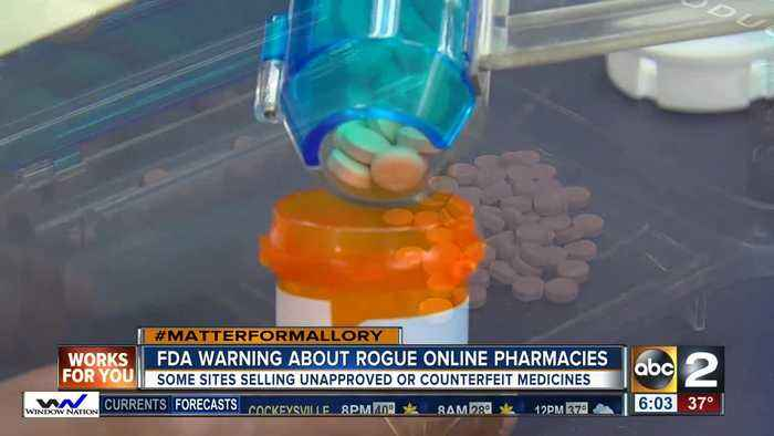 News video: FDA warns about rogue online pharmacies