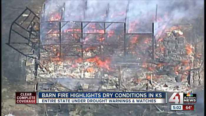 News video: Barn fire highlights dry conditions in Kansas