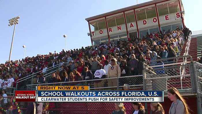 Tampa Bay students walk out of class, demand change