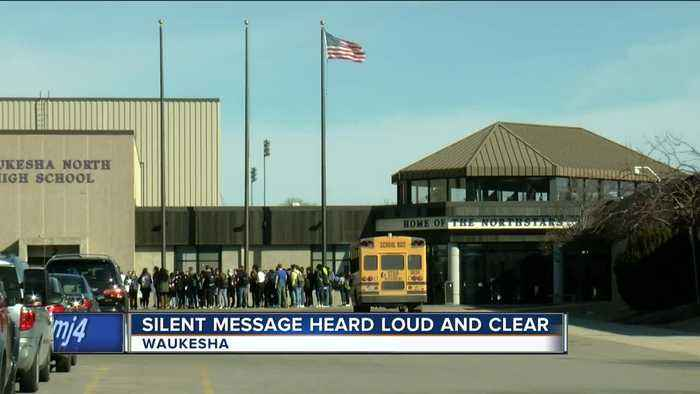 News video: Waukesha North High School protesters honor Parkland shooting victims