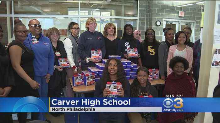 News video: Carver High School Students Receive 45 Donated First-Aid Kits