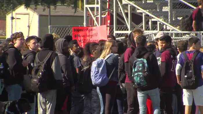 News video: Stoneman Douglas students walkout