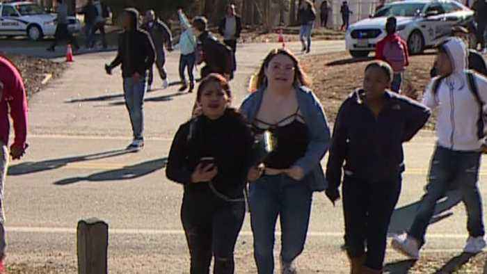 News video: Confusion During School Threat Evacuation Sends Students Running in Panic