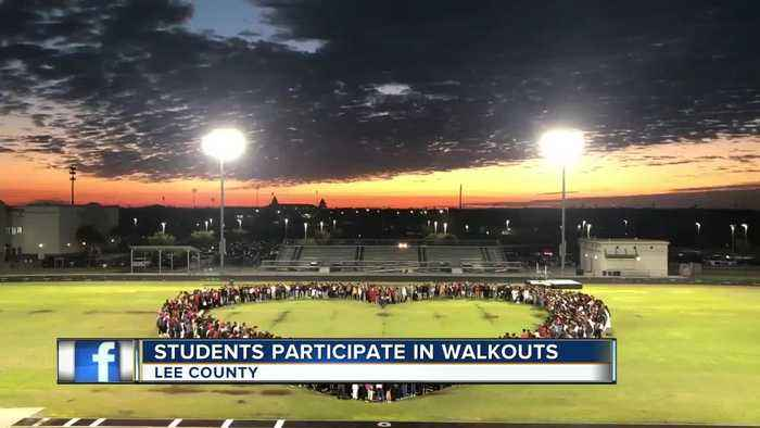 High school students walk out of class in Lee county